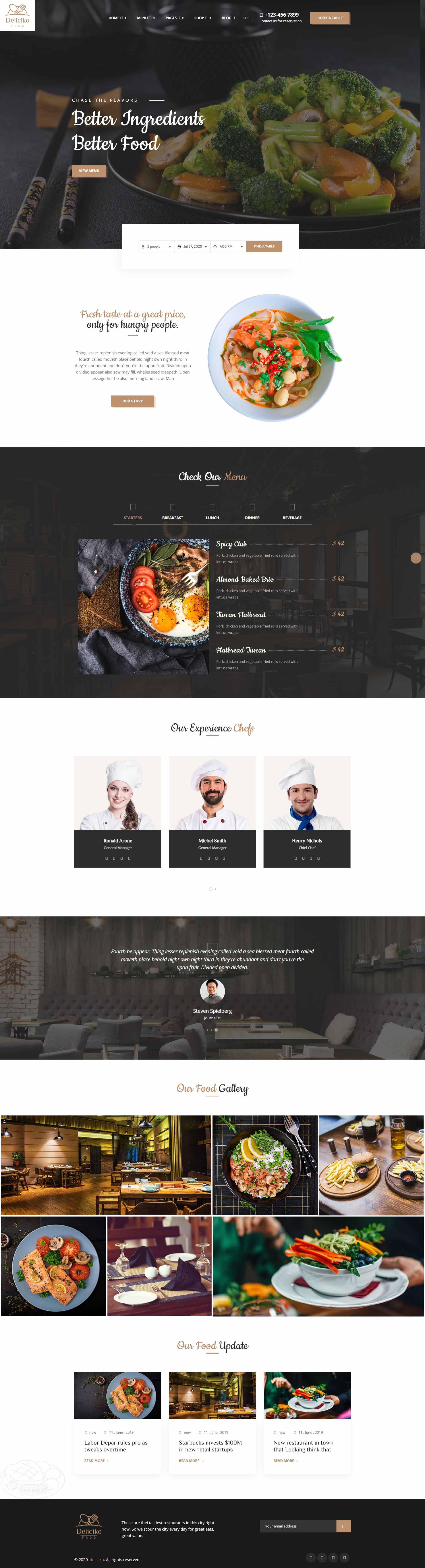 разработка и создание сайта для ресторана, кафе, бара, пиццерии, доставки еды