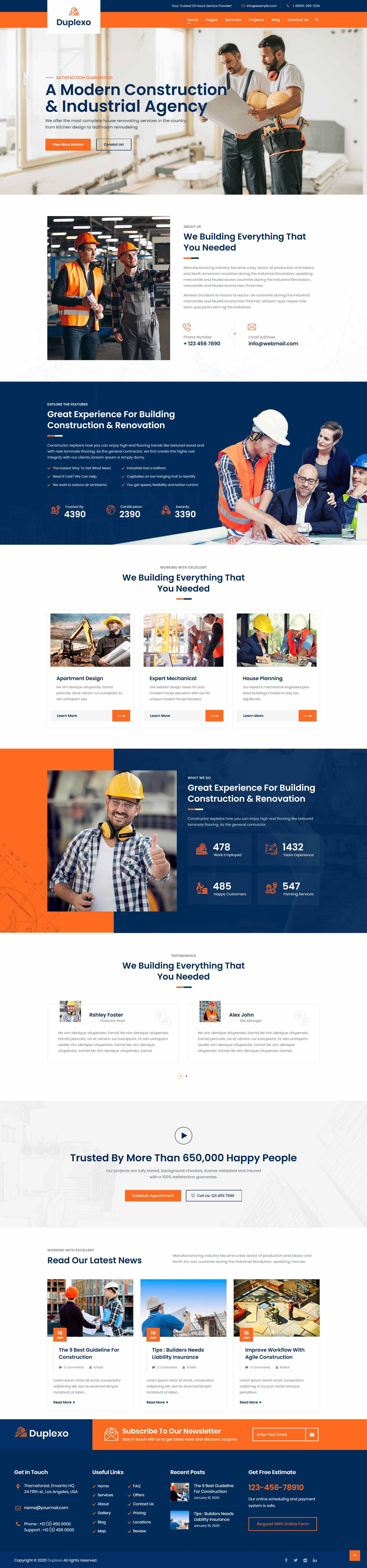 разработка и создание сайтов строительных организаций