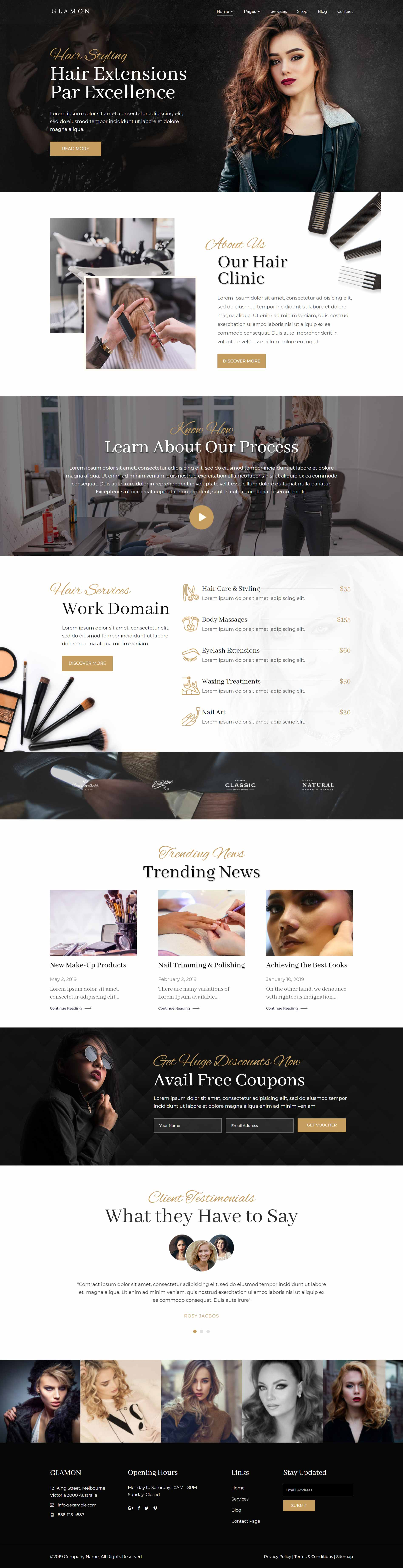разработка и создание сайтов салонов красоты