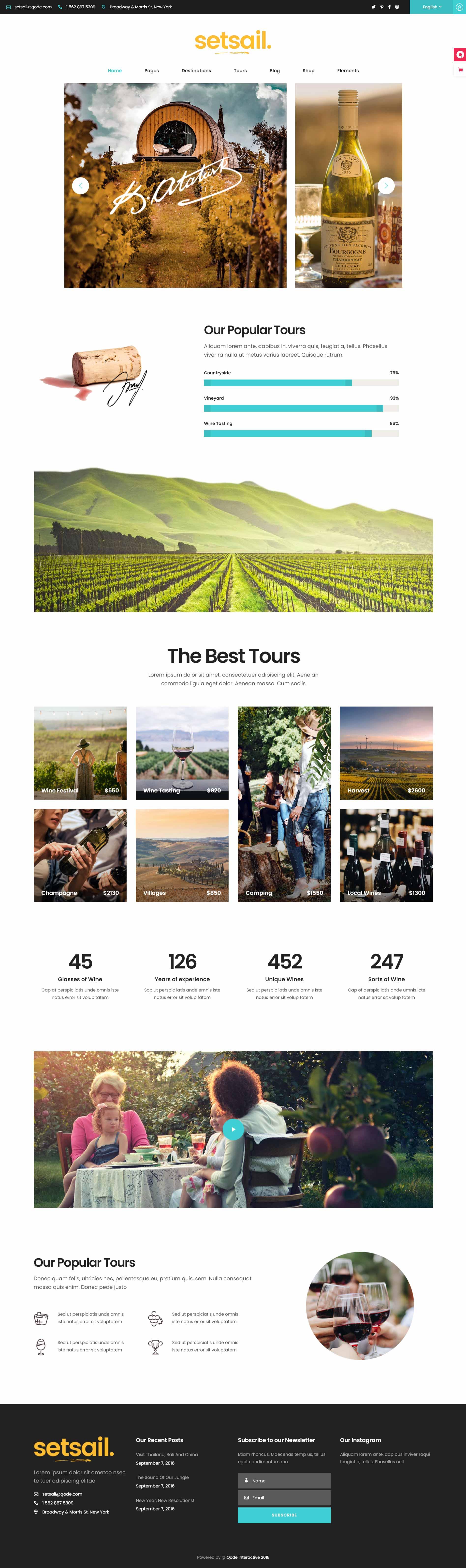 разработка и создание сайта для туристического агентства