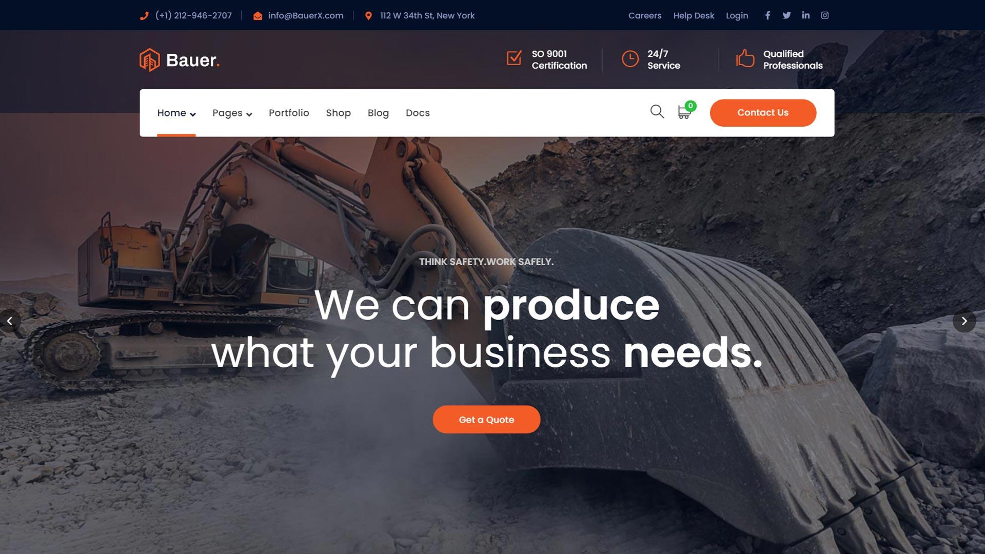 Создание сайтов для строительной компании, производственного предприятия